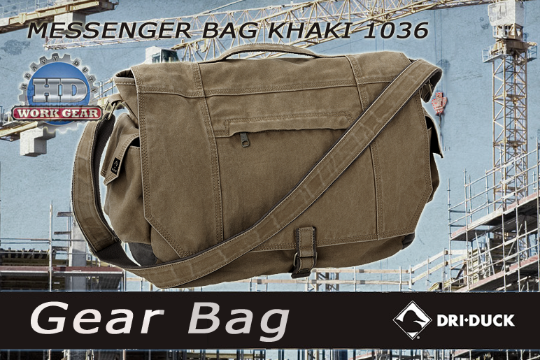 Dri Duck Messenger Khaki 1036