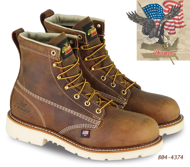 Thorogood American Heritage 6-in Safety-Toe Boots 804-4374