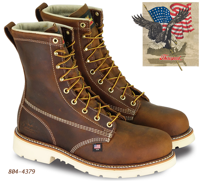 Thorogood American Heritage 8-in Safety-Toe Boots Max 804-4379
