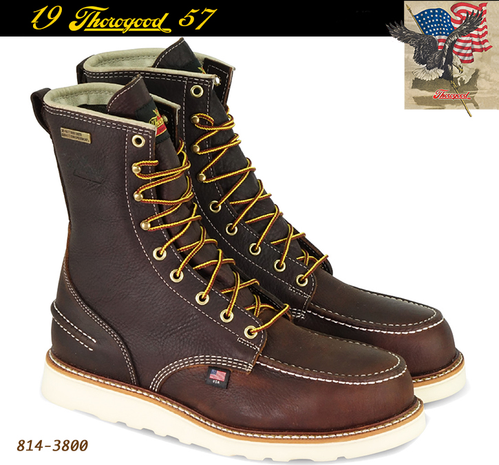 Thorogood 1957 Series 8-in Soft-Toe Boots Briar Pitstop 814-3800
