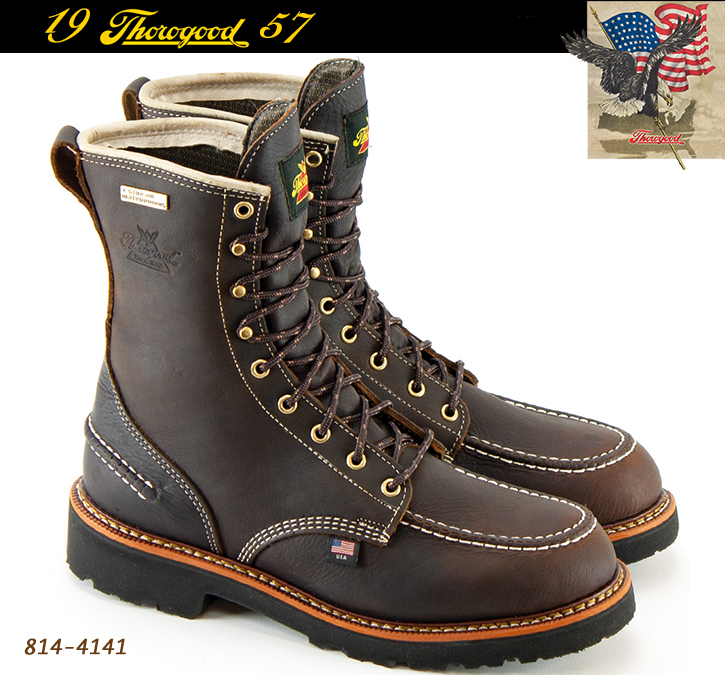 Thorogood 1957 Series 8-in Soft Toe Boots Briar Pitstop 814-4141