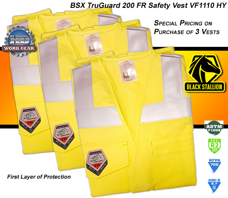 BSX FR TruGuard Save Buy 3-Vests Size Small VF1110