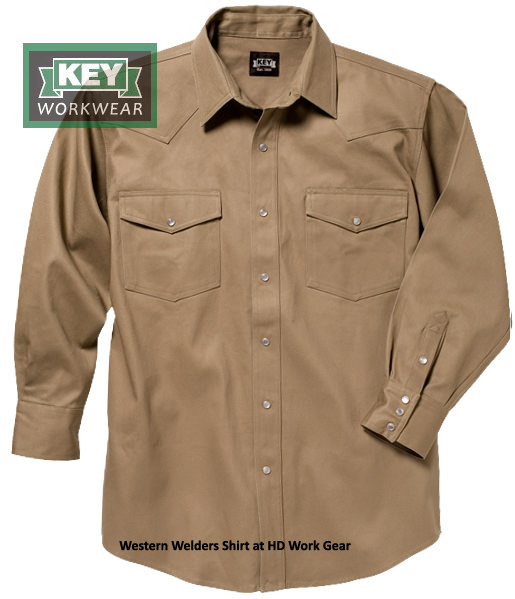 Key Western Non-Rated Pearl Snap Welders Shirt 519.24