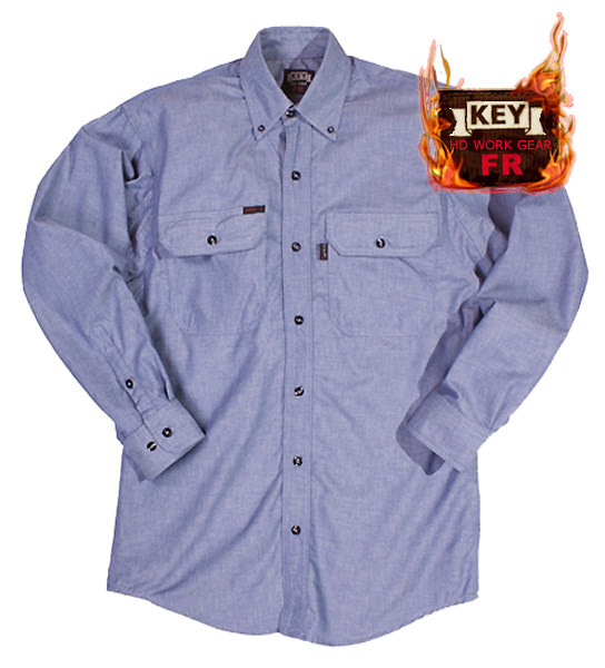 Key FR Chambray Shirt Button Front 562.45