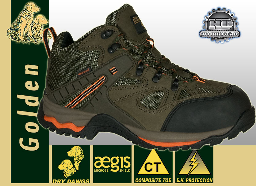 Golden Retriever Waterproof Nubuck Mesh Hiker 7566