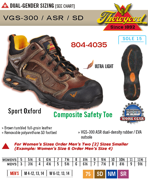 Thorogood ASR SD Sport Oxford 804-4035