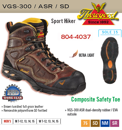 92edf4a8c73 Thorogood ASR SD Sport Hiker 804-4037  804-4037  -  135.00   HD Work ...