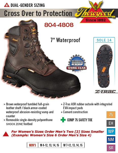 210a8d67638 Thorogood 7-Inch Waterproof 804-4808 [804-4808] - $140.00 : HD Work ...