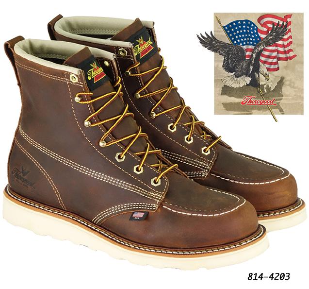 947efd4cf40 Thorogood 6 inch Brown Moc Toe 814-4203  814-4203  -  190.00   HD ...