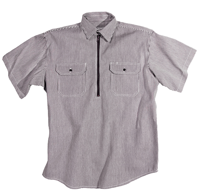 Key Industries Hickory Stripe Short Sleeve Logger Shirt 5703.47
