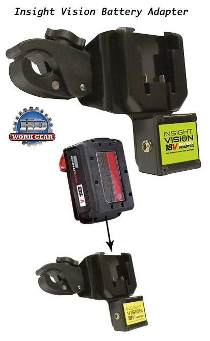 Insight Vision Battery Adapter Uses Milwaukee M18 Battery