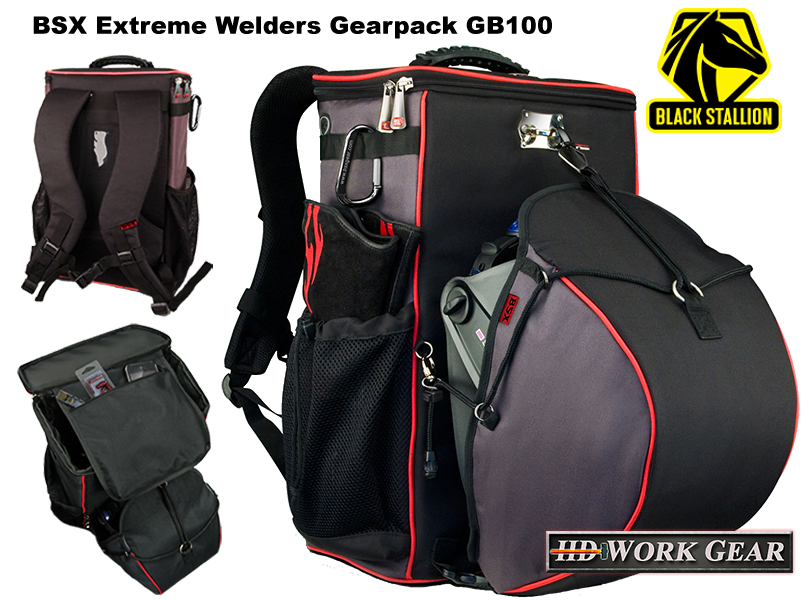 Black Stallion BSX Extreme Welders Backpack GB100