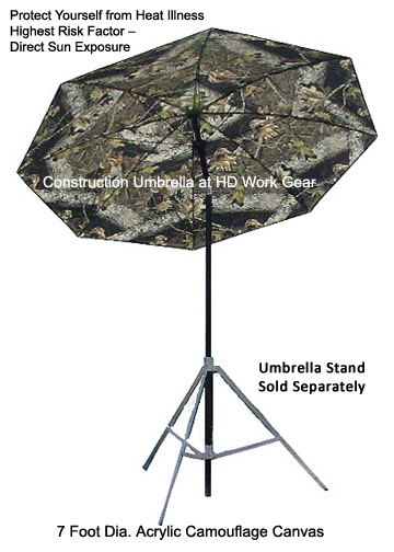 LAPCO 7 Ft Dia. Camo Construction Task Umbrella LAP-UM7ACC