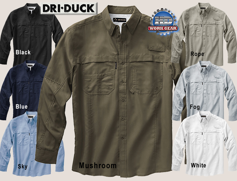 Dri Duck Catch Long Sleeve Work Shirt 4405