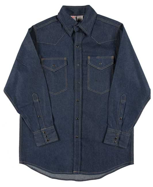 Rasco Welder's Shirt Blue Denim Non FR Rated D1150