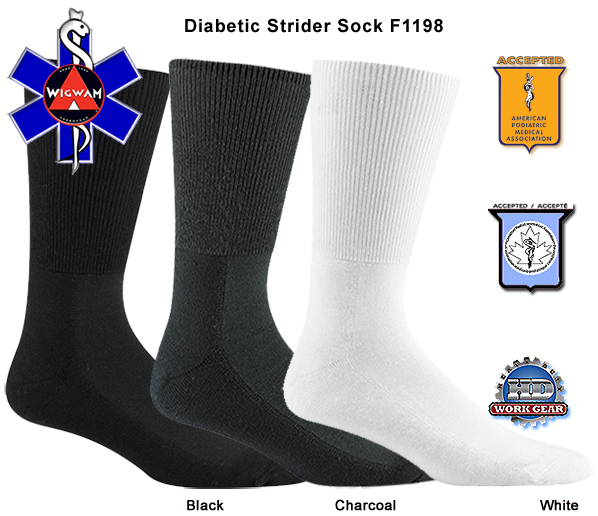 Wigwam Diabetic Strider 6-Pr Pricing/Shipping Included F1198