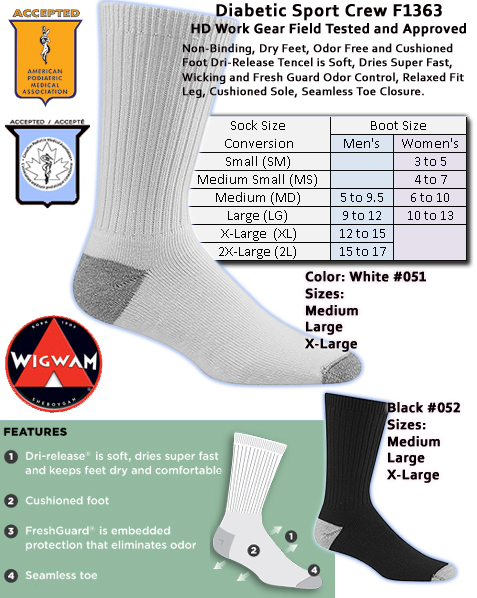 Wigwam Diabetic Sport Crew Special Pricing F1363