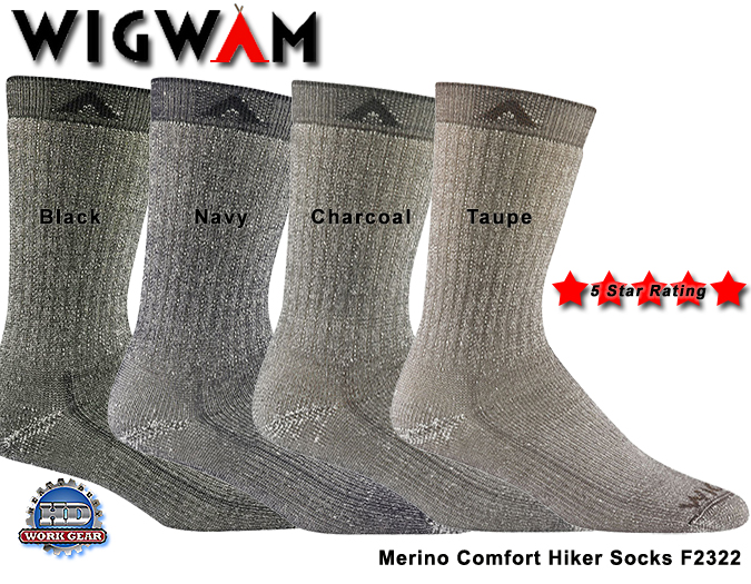 "Wigwam Merino Comfort Hiker ""Must Read Review/True Story"" F2322"