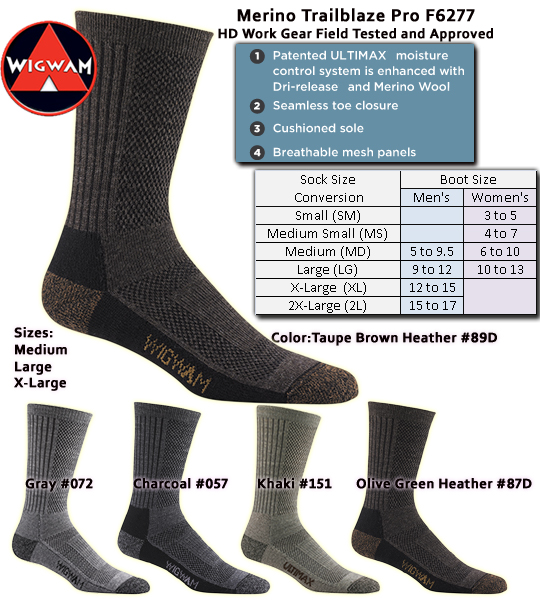 Wigwam Merino Trailblaze Pro Save 6-Pair Pricing F6277