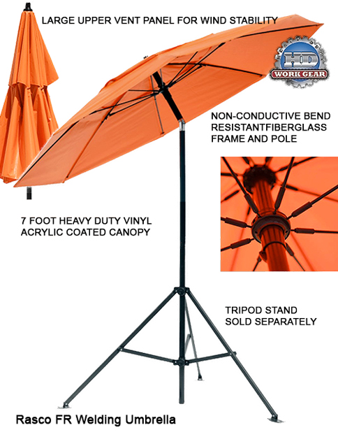 Rasco FR Umbrella Industrial Grade Orange FR7727OR