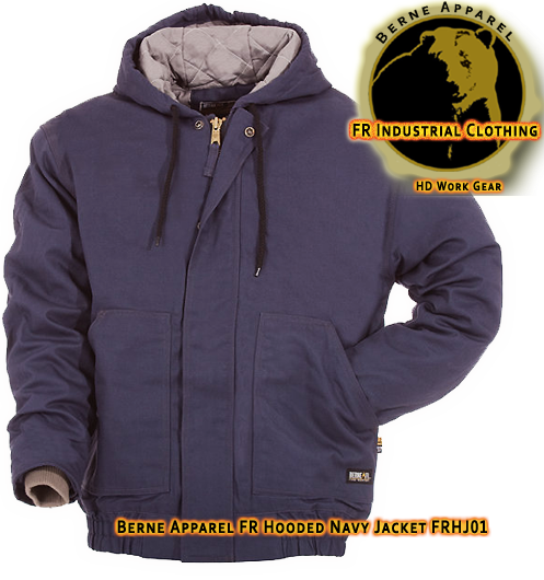 Berne Apparel FR Navy Hooded Jacket FRHJ01NV