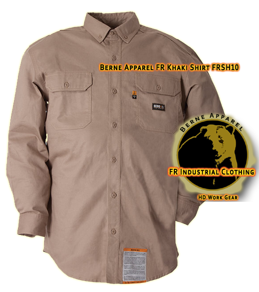 Berne Apparel FR Khaki Workshirt FRSH10