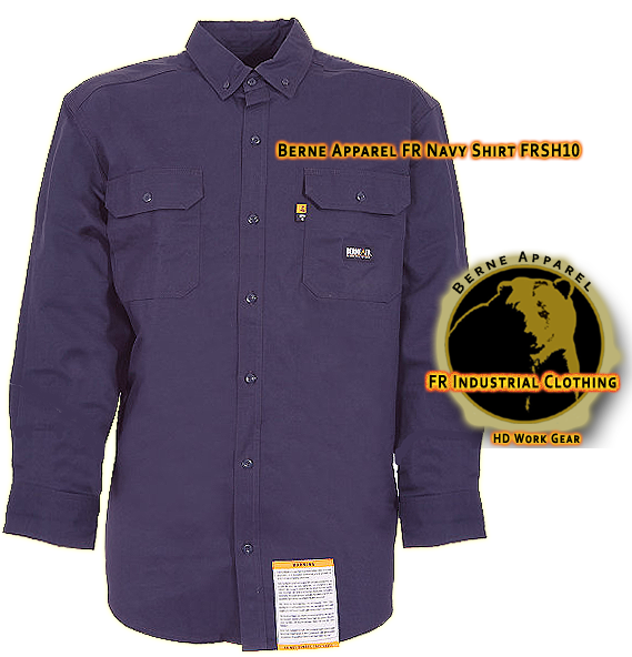 Berne Apparel FR Navy Workshirt FRSH10