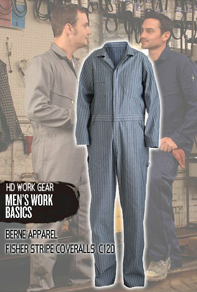 Berne Apparel Classic Fisher Stripe Service Coveralls C120