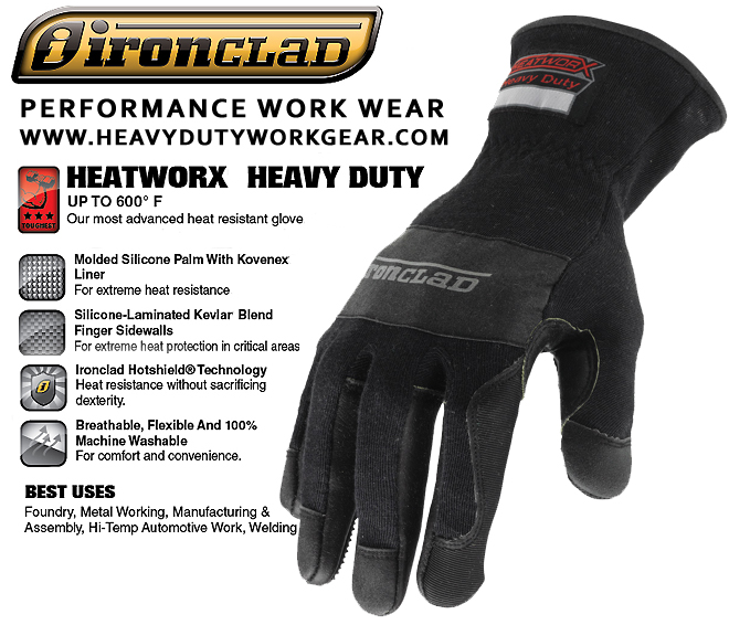 Ironclad HEATWORX Size 2x-Lrg 600°F HW6X