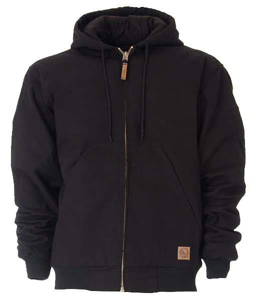 Berne Apparel Quilt Lined Black Hooded Jacket HJ51