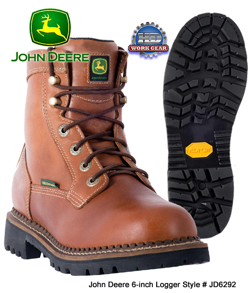 John Deere 6-inch WP Logger / Cross-Trade Work Boot JD6292