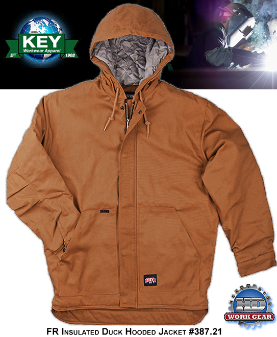 Key FR Hooded Jacket Classic Caramel 11-oz Insulated Duck 387.21
