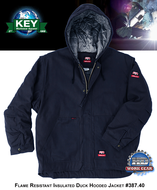 Key FR Hooded Jacket Navy 11-oz Classic Insulated Duck 387.40