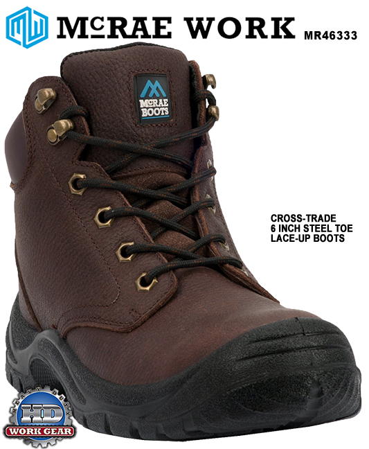McRae Comfort 6 INCH STEEL TOE LACE-UP LEATHER BOOTS MR46333