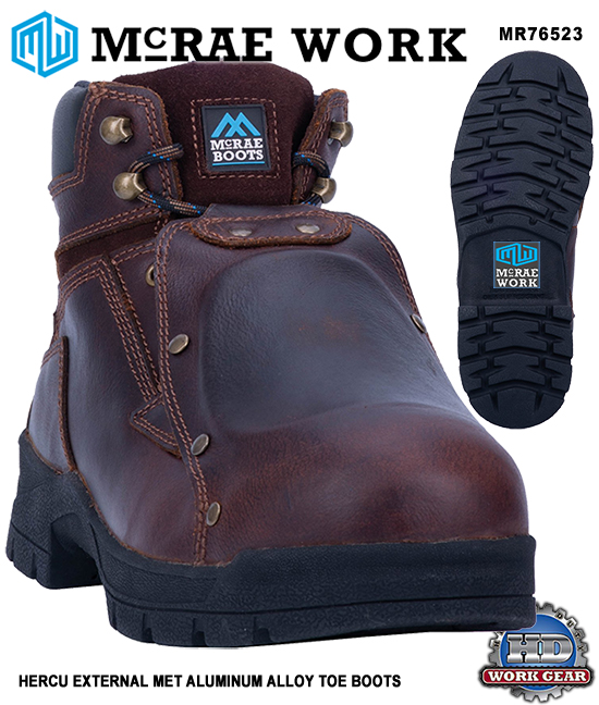 McRae HERCU EXTERNAL MET ALUM ALLOY SAFETY TOE BOOTS MR76523