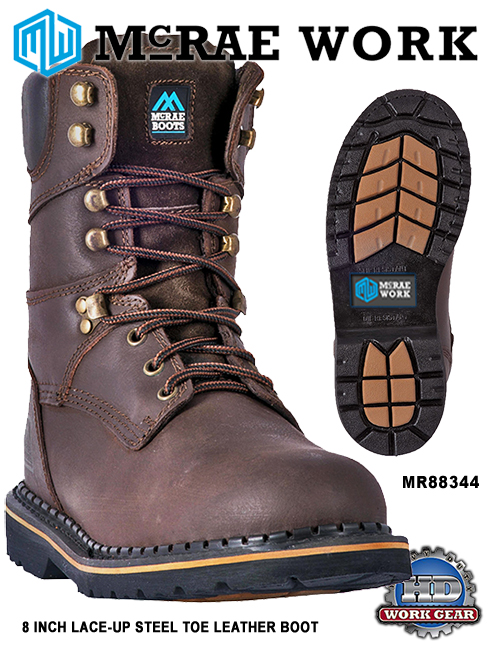 McRae Safety Steel Toe 8-inch Lace-Up Boots MR88344