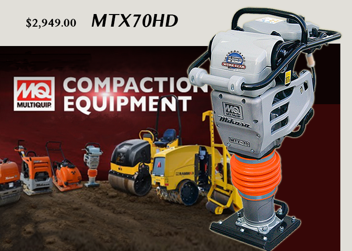 Multiquip Rammer Best Selling MTX70HD