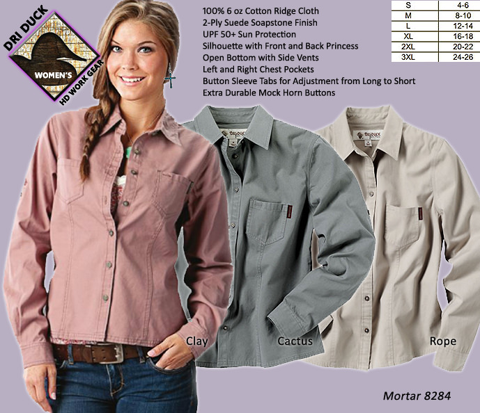 Dri Duck Women's Mortar Work Shirt 8284