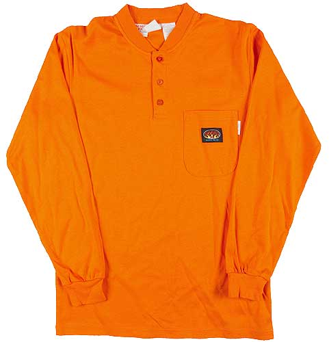 Rasco FR Henley Orange T-Shirt Preshrunk 100% Cotton OTF455