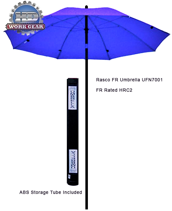 Rasco 7 Ft Dia. FR Flame Resistant Navy Umbrella UFN7001