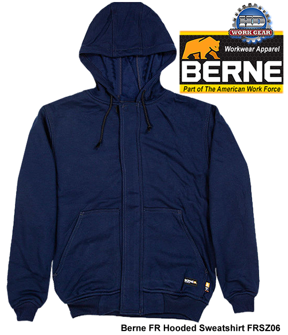 Berne Apparel Flame Resistant Hooded Sweatshirt FRSZ06