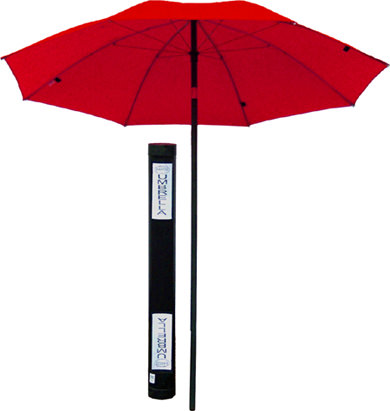 Rasco 7 Ft Dia. FR Flame Resistant Red Umbrella UFD7004