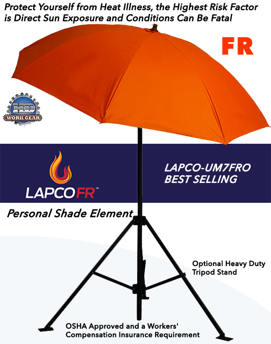LAPCO FR Umbrella PPE Safety Strategy 7-Ft. Dia LAP-UM7FRO