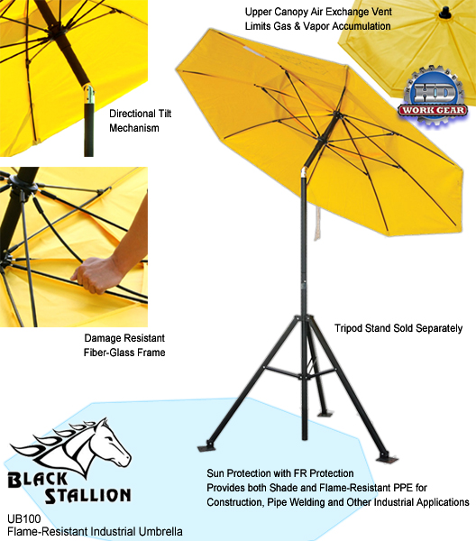 Revco Black Stallion Flame Resistant Industrial Umbrella UB100