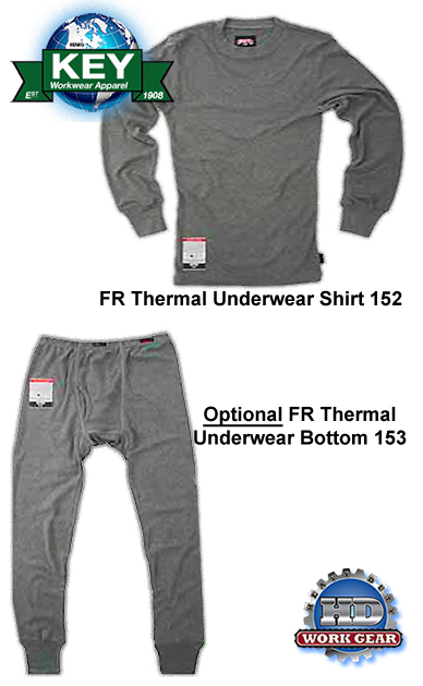 Key Flame Resistant Thermal Underwear Shirt 152