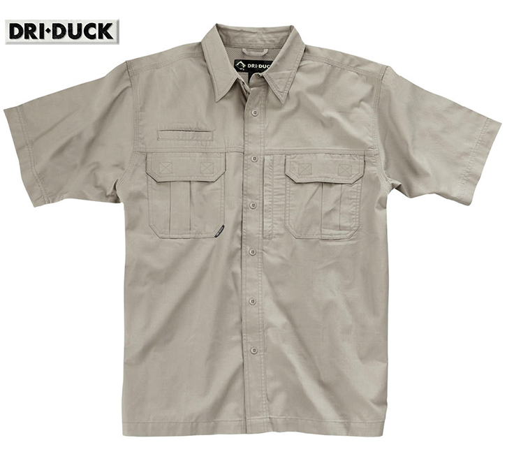 Dri Duck Utility Rip-Stop Rope Shirt Action Back 4436