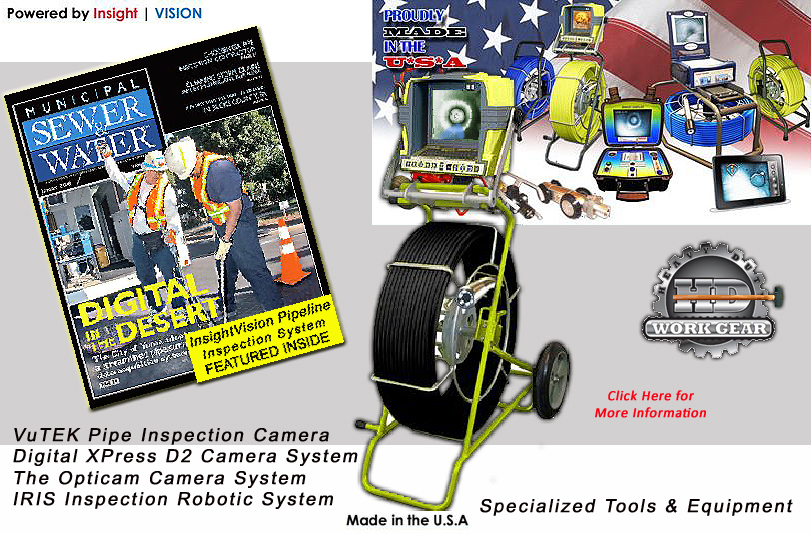 Insight Vision Vutek Sewer Inspection Camera & 200 Ft Line