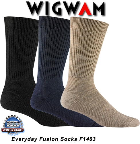 Wigwam Everyday Fusion Socks 6-Pr Pricing/Ship'g Included F1403