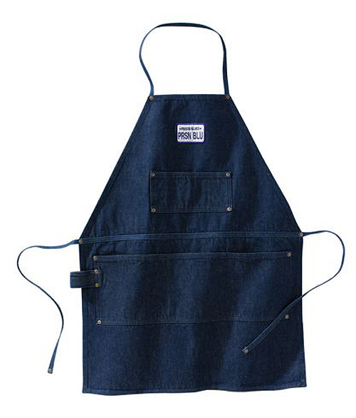 Prison Blues Shop Grade Apron Blue Denim