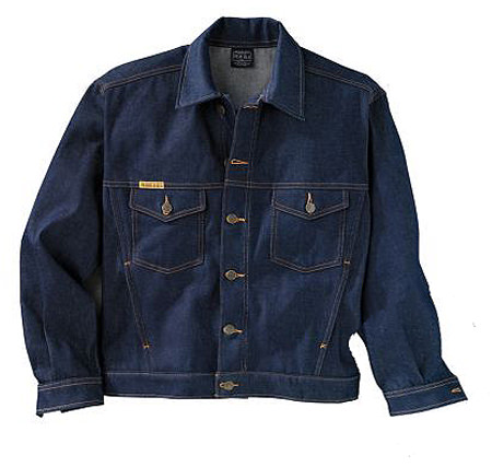 Prison Blues Western Jacket Rigid Blue Denim